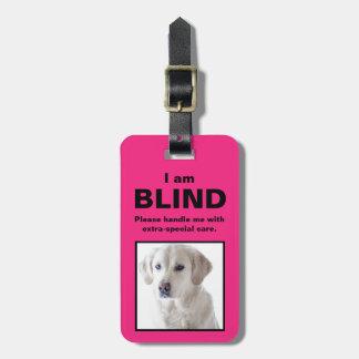 Etiqueta De Bagagem [Sobre meu cão] cão surdo do gato das cortinas