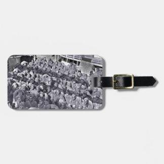 Etiqueta De Bagagem Soldados pretos de WWI no navio de transporte