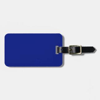 Etiqueta De Bagagem Somente sólido elegante azul escuro OSCB33