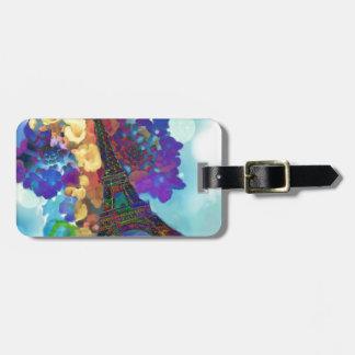 Etiqueta De Bagagem Sonhos de Paris das flores