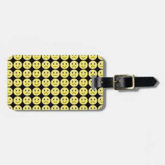 Etiqueta De Bagagem Sorrisos do amarelo