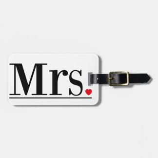 Etiqueta De Bagagem Sra. Bagagem Tag