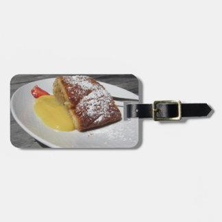 Etiqueta De Bagagem Strudel de maçã deliciosa com creme da baunilha