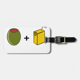 Etiqueta De Bagagem Suco verde-oliva eu te amo