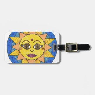 Etiqueta De Bagagem Sun feliz