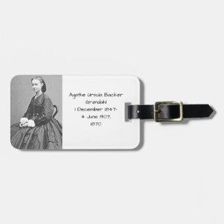 Etiqueta De Bagagem Suporte Grondahl de Ágata Ursula, 1870