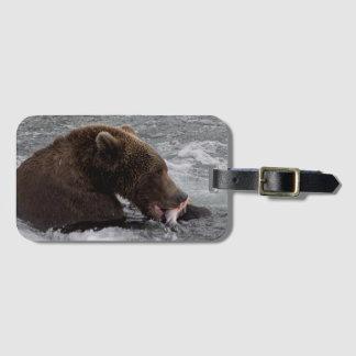 Etiqueta De Bagagem Tag 2 da bagagem de Cubadult Fisherbear do urso