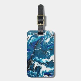 Etiqueta De Bagagem Tag abstrato da bagagem do azul personalizado