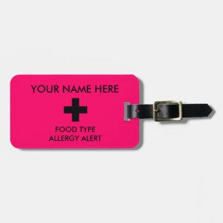 Etiqueta De Bagagem Tag alerta da identificação da alergia