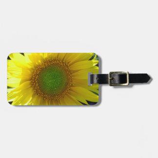 Etiqueta De Bagagem Tag amarelo brilhante da bagagem do girassol