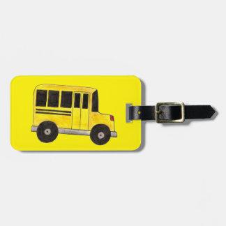 Etiqueta De Bagagem Tag amarelo da bagagem do professor do motorista