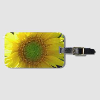 Etiqueta De Bagagem Tag amarelo ensolarado da bagagem do girassol