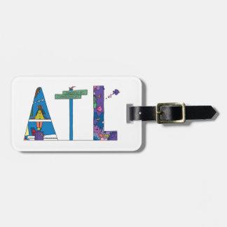 Etiqueta De Bagagem Tag   ATLANTA da bagagem, GA (ATL)