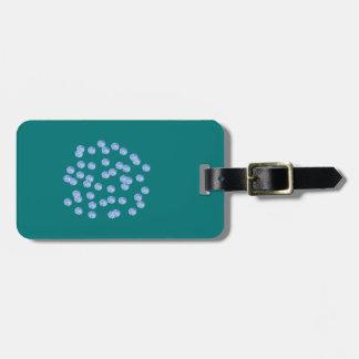 Etiqueta De Bagagem Tag azul da bagagem das bolinhas