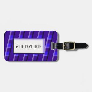 Etiqueta De Bagagem Tag azul escuro da bagagem