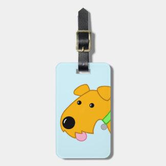 Etiqueta De Bagagem Tag bonito da bagagem do close up do cão de