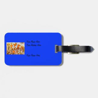 Etiqueta De Bagagem Tag bonito da bagagem dos peixes do palhaço