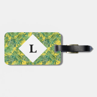 Etiqueta De Bagagem Tag brilhante personalizado da bagagem das folhas