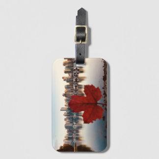 Etiqueta De Bagagem Tag canadense da bagagem da folha de bordo