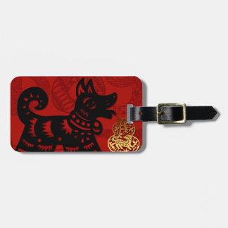 Etiqueta De Bagagem Tag chinês da bagagem do zodíaco do ano de 2018