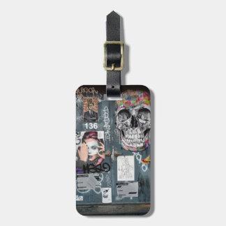 Etiqueta De Bagagem Tag cinzento da bagagem dos grafites