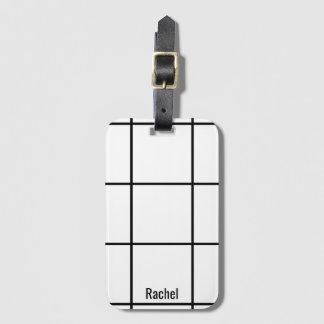 Etiqueta De Bagagem Tag conhecido feito sob encomenda preto & branco