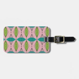 Etiqueta De Bagagem Tag cor-de-rosa atômico customizável da bagagem de