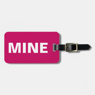 Etiqueta De Bagagem Tag cor-de-rosa brilhante da bagagem