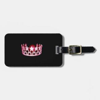 Etiqueta De Bagagem Tag cor-de-rosa da bagagem da coroa da senhorita