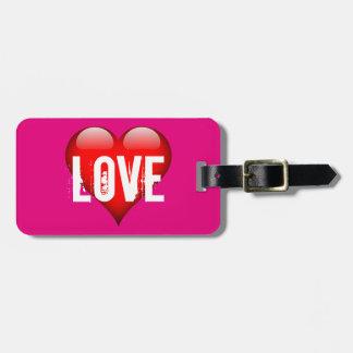 Etiqueta De Bagagem Tag cor-de-rosa da bagagem do amor