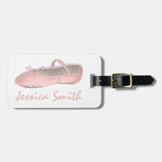 Etiqueta De Bagagem Tag cor-de-rosa do saco dos calçados da bailarina