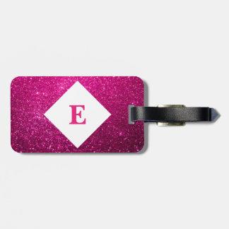 Etiqueta De Bagagem Tag cor-de-rosa personalizado da bagagem do
