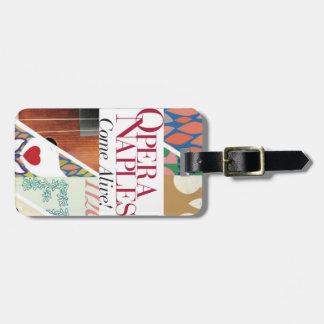 Etiqueta De Bagagem Tag customizável da bagagem de Nápoles da ópera