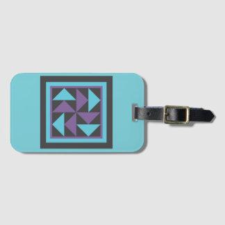 Etiqueta De Bagagem Tag da bagagem - bloco da edredão do holandês de