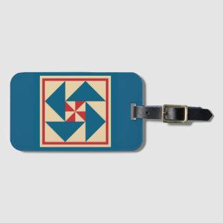 Etiqueta De Bagagem Tag da bagagem - bloco patriótico da edredão da