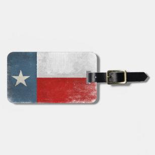 Etiqueta De Bagagem Tag da bagagem com a bandeira legal de Texas