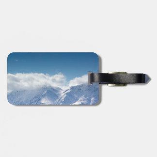 Etiqueta De Bagagem Tag da bagagem com a foto de montanhas de Kluane