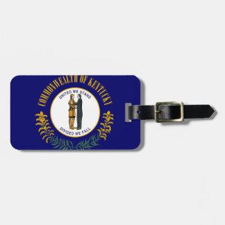 Etiqueta De Bagagem Tag da bagagem com estado de bandeira de Kentucky