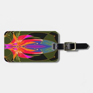 Etiqueta De Bagagem Tag da bagagem da adoração com correia de couro