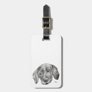 Etiqueta De Bagagem Tag da bagagem da arte do filhote de cachorro