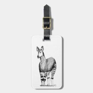 Etiqueta De Bagagem Tag da bagagem da arte do Okapi