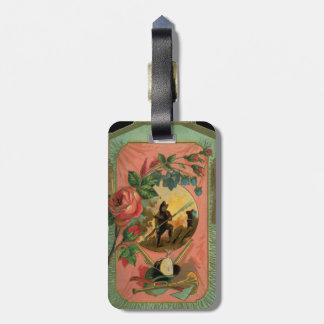 Etiqueta De Bagagem Tag da bagagem da arte dos 1880's do
