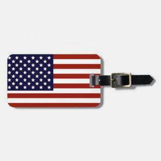 Etiqueta De Bagagem Tag da bagagem da bandeira americana
