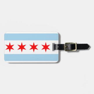 Etiqueta De Bagagem Tag da bagagem da bandeira de Chicago
