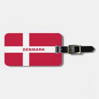 Etiqueta De Bagagem Tag da bagagem da bandeira de Dinamarca