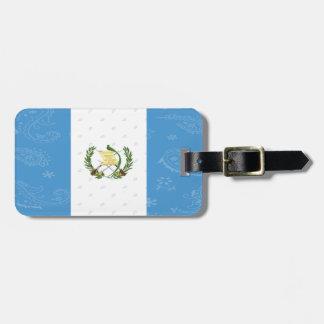 Etiqueta De Bagagem Tag da bagagem da bandeira de Guatemala