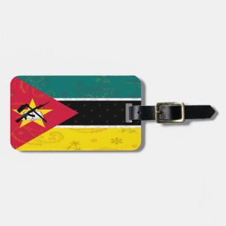 Etiqueta De Bagagem Tag da bagagem da bandeira de Mozambique