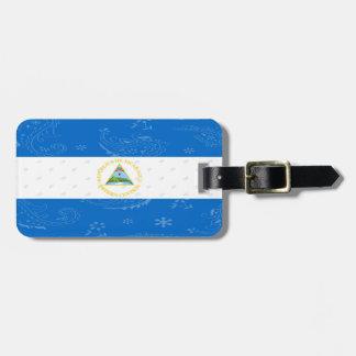 Etiqueta De Bagagem Tag da bagagem da bandeira de Nicarágua