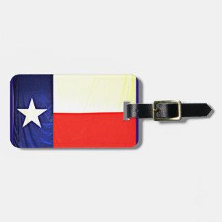 Etiqueta De Bagagem Tag da bagagem da bandeira de Texas com correia de