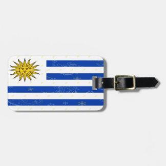 Etiqueta De Bagagem Tag da bagagem da bandeira de Uruguai